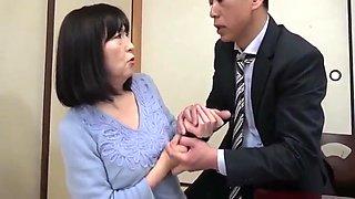Japanese Granny Fucks Ex-husband