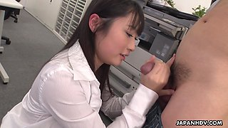 Grown up student Tomomi Motozawa gives a blowjob to her first teacher