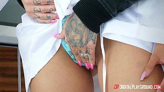 Orgasmic lesbian sex video featuring two bodacious babes Lela Star and Karmen Karma