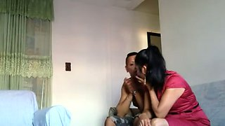 Mexican brunette undressed to be fucked doggy by her ugly man