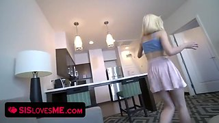 Teen Catches Step Brother Jerking Off To Her Tits Flashing Video & Takes Over