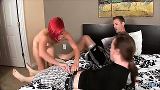 Danni Peach is caught by her step-brother and one of his