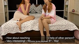 young lesbian lovers defloration on camera