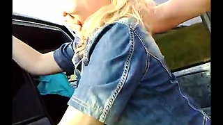 Milf blowjob in car and outdoor