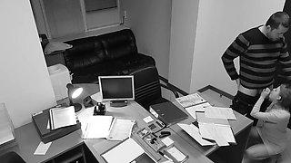 Seduction of office secretary caught on hidden security cam