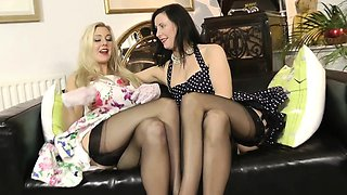 Posh mature pleasure busty glamour chick