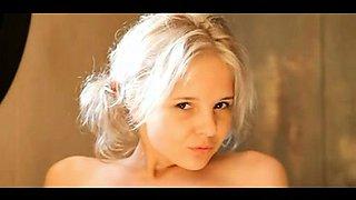 Blonde russian teen hoe Kate suck and jerk a huge pecker