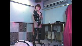 Asian Milf Mistress, Whipping and Pegging