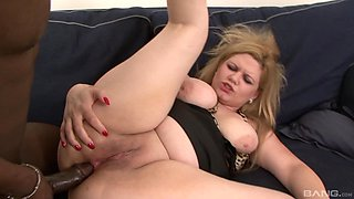 Chubby cheating wife Jessica Aureli gets her first ever big black cock