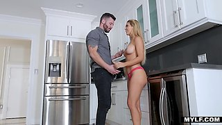 Bodacious brother's wife Cherie Deville gives her head and allows to penetrate pussy