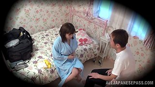 Spy cam in the bedroom catches Yuumi Nagasaku getting fucked