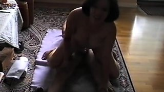 Asian pinoy wife rides new year 2014