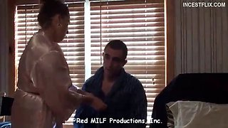Son faking and force fucking mom