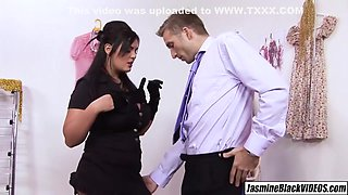 Bad Girl Holds Up Stud For His Big Cock Satis - Huge Boobs, Jasmine Black And Jamie Barry