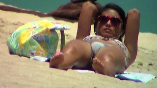 Busted while filming bikini cameltoe