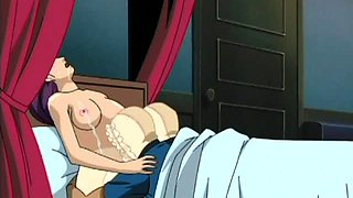 Hentai sex doll mouth fucking penis on knees