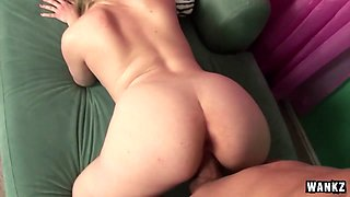 Bruce Venture in Cute Blonde Lays Down And Gets Fucked And Sucks Cock - Wankz