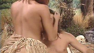 White man devoured by African tribe women