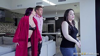 cock hungry milf pleases her girl's boyfriend meaty cock