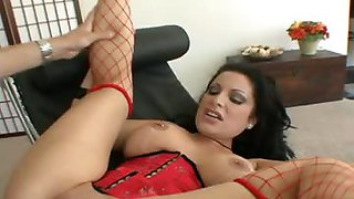 Hot slut with pierced tits takes cock and dildo in her holes