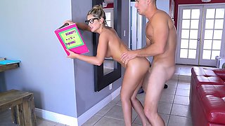 Brazzers - Sexy nerd August Ames needs a stud