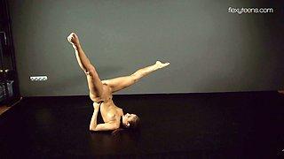 Amazing flexy teen Zina Nehuschova is always ready for some masturbation