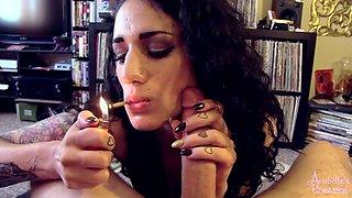 Ar smoking blowjob