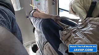 Hot asian teen fucked in the public bus