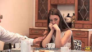 Daddy4k. daddy stretches goodlooking chick while son