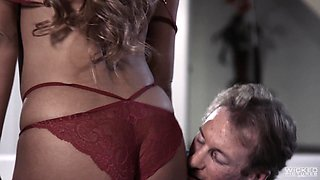Tanned older woman Mercedes Carrera fucked by her next door neighbor
