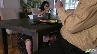 Naughty and sinful stepdaughter Jackie Rogen gives such a good blowjob
