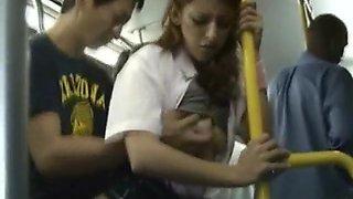 White Teen Public Bus Sex in Japan!