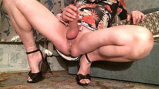 stroking the clitoris naked legs spread 2
