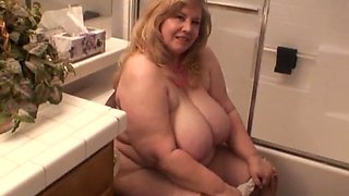 Mom on the toilet