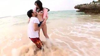 Incredible Japanese girl Junko Hayama in Best Outdoor, Beach JAV clip