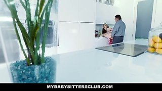 Dolly Leigh - Babysitter Stuck In Sink Fucked By Boss