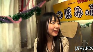 Innocent japanese hottie gets groped and throat drilled hard