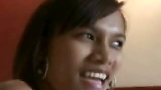 Hot and skinny young Filipina picked up at hotel pool and