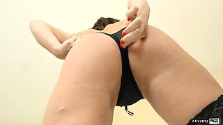 Krissy Lynn wears sexy stockings while being fucked hardcore