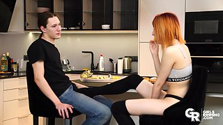 GIRLSRIMMING -  Naughty teen Elin Flame rimming her boyfriend and gets fucked