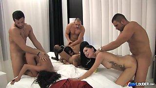The ultimate orgy porn video starring Noemi Jolye and Yoha Galvez