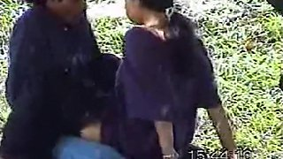 Muslim ponytailed hijab girl kisses and rides her bf in public