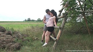 Pregnant wife Kristina N loves to be fucked in the public place