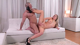 Stunningly hot Euro babe absolutely loves being watched and she loves fucking