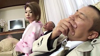 Incredible Japanese chick Rinka Kanzaki in Exotic JAV uncensored Creampie movie