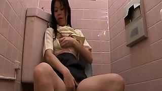 Spycam Toilet Onanism Slowly Moaning