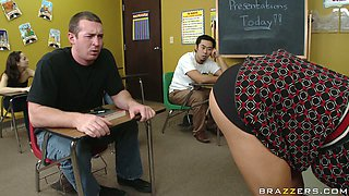 Naughty teacher Diamond Foxxx is punished by school principle