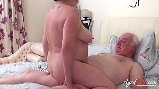 Roleplay sex of one kinky aged couple from Europe