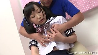 Young jap schoolgirl creampied