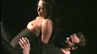 Classic spandex catsuit sex